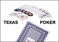 China Plastic Red / Blue Marked Playing Cards , Poker Cheat Card For Poker Club company
