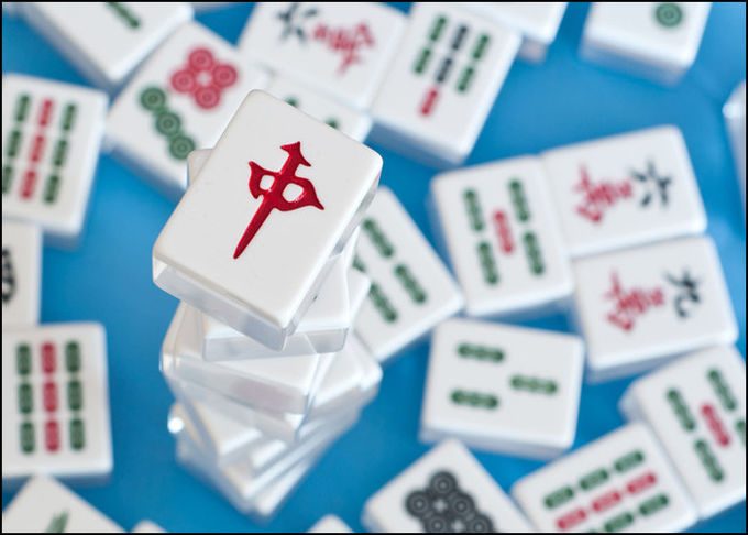 Infrared  Marked Mahjong Cheating Devices Normal Size Gambling Accessories